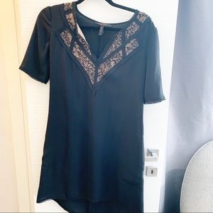 BCBGMAXAZRIA Tunic Dress with Lace Detail
